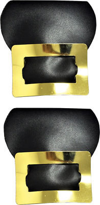 Morris Costumes New Decoration Colonial Elastic Strap Gold Shoe Buckles. BB221GD - Colonial Shoe Buckles