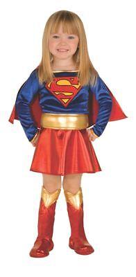 Rubies Dc Comics Klassisch Supergirl Deluxe Kleinkinder Halloween Kostüm - Deluxe Supergirl Kind Kostüm