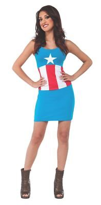 Rubies Marvel Comics American Dream Tank Dress Womens Halloween Costume 820031