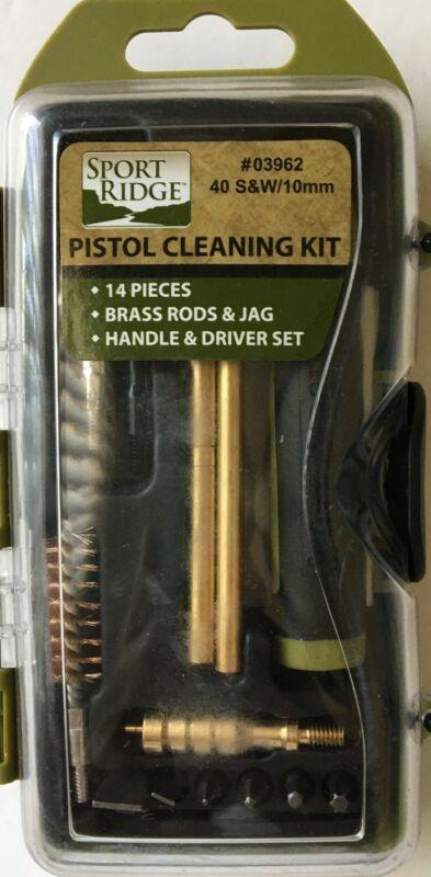 Sport Ridge 14pc .40 S&W Pistol Field Cleaning Kit Brush/Patches/Rod/Tools