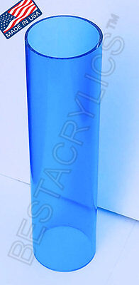 1 Pc 3 Od X 2 34 Id X 8 Inch Long Clear Blue Acrylic Plexiglass Lucite Tube