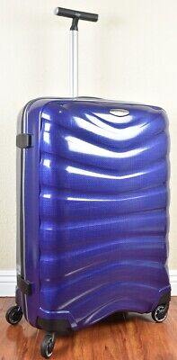 "Samsonite Firelite 75cm/28"" DEEP BLUE Spinner Luggage 4-wheeled 49959-1277 Demo"