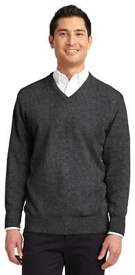 Port Authority Men's New Long Sleeve Acrylic V Neck Winter Sweater. SW300 - Acrylic Sweaters