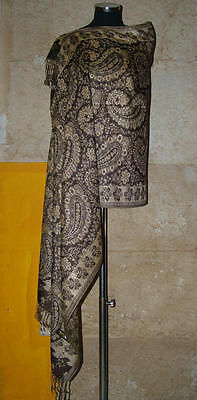 Pashmina Elegant Scarf Stole Grand Scarf Ethnic Chic Evening Gala India 38