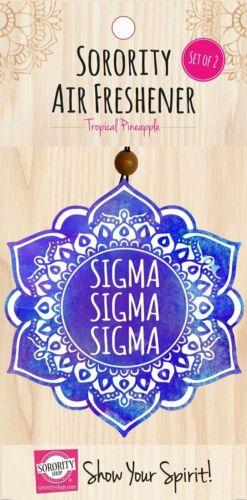 Sigma Sigma Sigma Tri-Sigma Sorority Mandala Air Freshener-New!