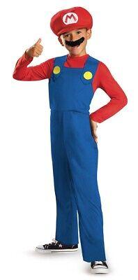Super Mario Baby Costume (Classic Mario Child Costume Size XS 3T-4T NEW Super)