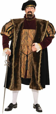 Henry VIII Mens Costume King Medieval Ancient Movie Theme Party Halloween XL