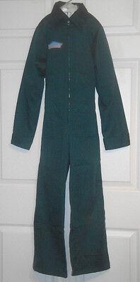Vintage Green Gabardine Jumpsuit Goodrich Size 12 Cotton