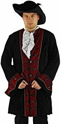 ARP Theater Pirat Edelmann Samt Mantel Gehrock Kostüm (Pirat Kostüm Mann)