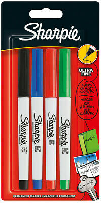 Sharpie Ultra Fine Marker Pen - Assorted Colours Pack Of 4
