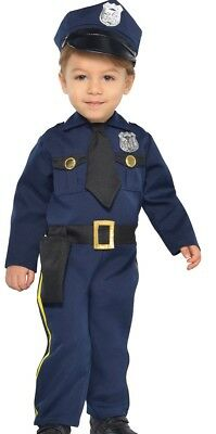 Baby Police Costume (Cop Recruit Costume Police Officer Childs Toddler Baby Infant - 0-6 6-12)