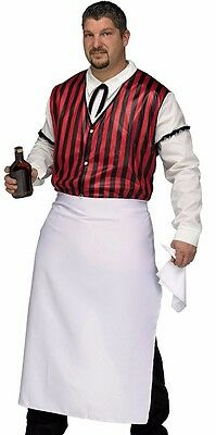 Saloon Keeper Costume Wild West Bartender Westworld Mens Adult - Plus Size XL - Male Bartender Halloween Costumes