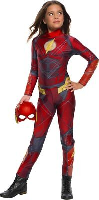 Cheap Girls Halloween Costumes (Rubies Justice League The Flash Jumpsuit Kids Child Halloween Costume)