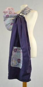 Palm & Pond Baby Sling Carrier - Purple Paisley Ring Sling