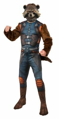 Rocket Man Halloween Costume (Adult Rocket Raccoon Guardians of the Galaxy Halloween Costume - STD and XL)