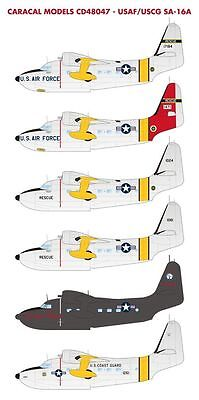 Caracal Models 1/48 USAF/US Coast Guard SA-16A Albatross for Trumpeter