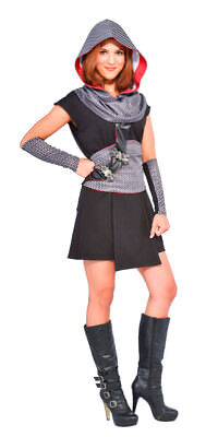 WOMENS CRUSADER COSTUME- KNIGHT- MEDIEVAL- RUBIES 810552- STANDARD (UP TO SZ 12)](Knight Costume Women)