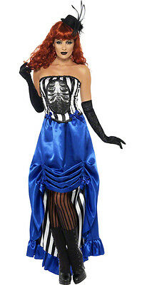 Ladies Victorian Gothic Costume Steampunk Halloween Fancy Dress 12-14 16-18 NEW