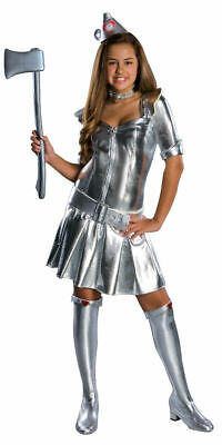 Tin Woman Wizard of Oz Tin Man Teen Costume Halloween (e)