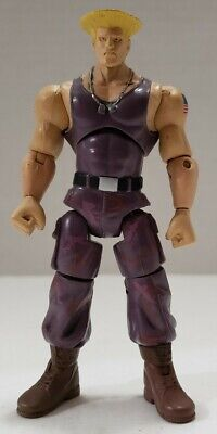 Jazwares Street Fighter Guile 3.75 Inch Articulated Action Figure Rare Free Ship