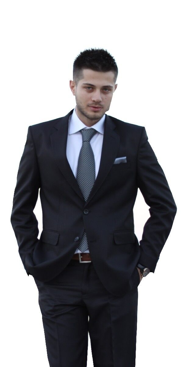 keskin collection herren anzug schwarz gr 50 schwarzer anzug neuware neu eur 1 00 picclick it. Black Bedroom Furniture Sets. Home Design Ideas