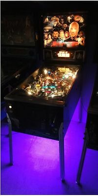 Star Trek TNG, Dirty Harry, Theatre of Magic Pinball Cabinet light mod PURPLE