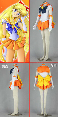 Cosplay Sailor moon sailor venus Aino Minako Kleider Costumes Kostüm 7 Teile ()