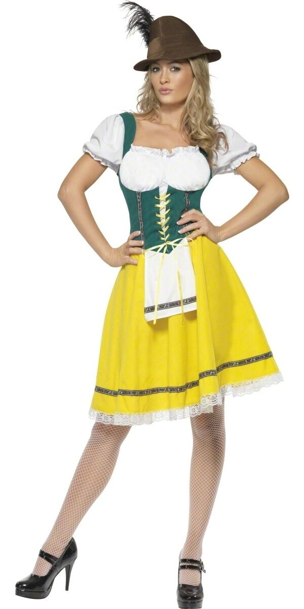 Ladies Classic Oktoberfest Serving Wench Fancy Dress Costume Outfit