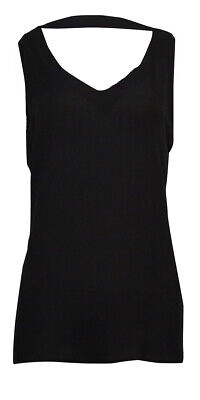 Back Cowl Top (NY Collection Women's Cowl-Back Sheer Crepe Top)