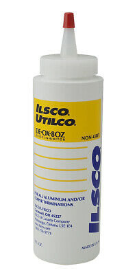 Ilsco De-ox-8oz Oxide Inhibitor Bottle 8 Oz De-ox