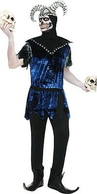NEW Smiffys Adult Male Corrupt Court Jester Scary Halloween Mens Costume sz M/L - Scary Male Costumes