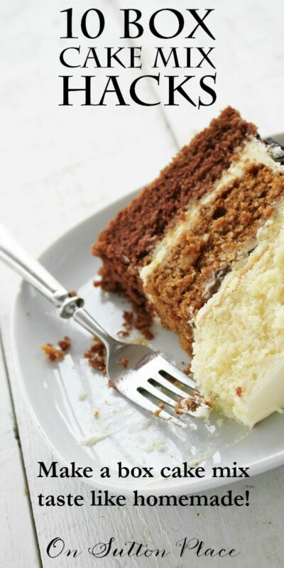 How Can I Make A Box Cake Mix Taste Homemade