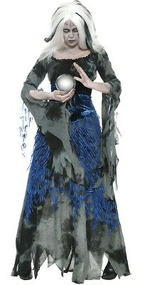 Ladies Ragged Witch Full Length Halloween Fancy Dress Costume Outfit UK 8-18