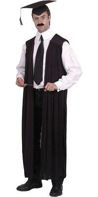 n Kostüm Lehrer lange schwarze Robe als Erzieher  (Lehrer Kostüm)
