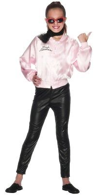 Grease Sandy Costumes (GIRLS SMIFFYS PINK LADIES LADY GREASE SANDY 50'S 60'S  FANCY DRESS)