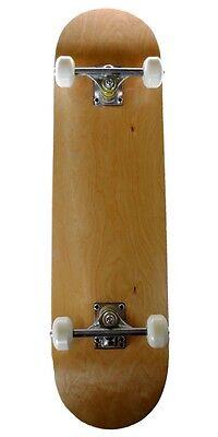 Runner Sports Complete Full Size Standard Maple Deck Skateboard - Natural Wood