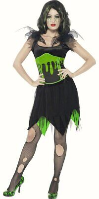 Zombie Monster Bride Frankenstein Womens Halloween fancy dress costume