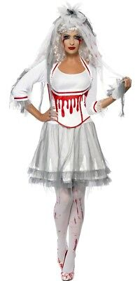 **CLEARANCE** Halloween Blood Drip Bride Women's Fancy Dress Costume (Smiffys)