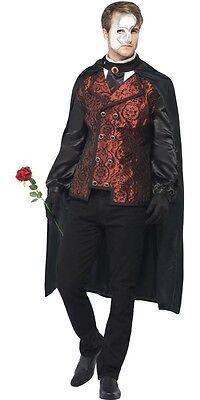 Herren Masquerade Vampir Phantom Ghost Dracula Halloween Kostüm M-L
