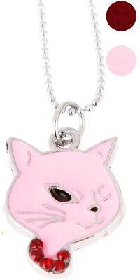 Süße KITTY Cat Head Katzenkopf Retro Halskette Rockabilly Schmuck (Head Kette Schmuck)