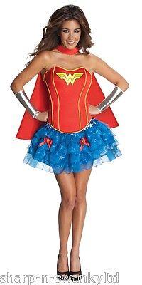 Damen Sexy Wonder Woman Superheld Helden & Bösewichte Kostüm Kleid (Weibliche Superhelden Sexy)
