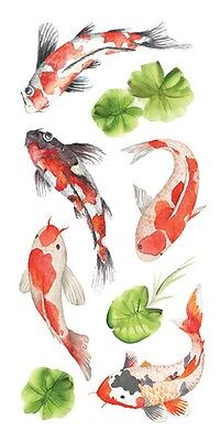 Stickers  Crafts Paper House Koi Fish Repeats Lily Pads Slim - Fish Crafts