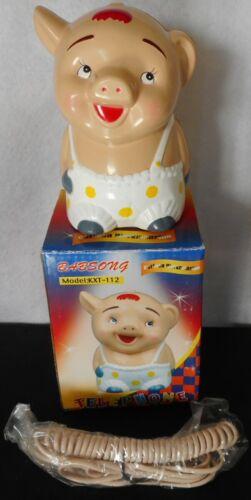 Vintage Novelty Lady Pig Telephone