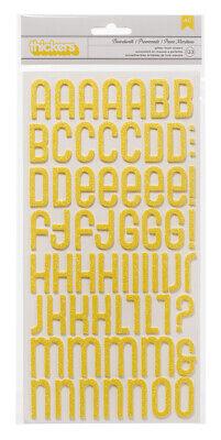 American Crafts Thickers Glitter Foam Alphabet Stickers Boardwalk Honeycomb American Crafts Thickers Foam