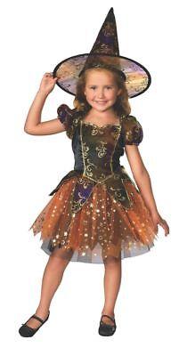 Rubies Elegant Hexe Gespenstisch Magic Stars Kinder Mädchen Halloween - Elegante Hexe Kind Kostüm