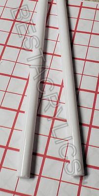 2 Pc White Opaque 12 Diameter 12 Inch Long Acrylic Plexiglass Color Rod Clear