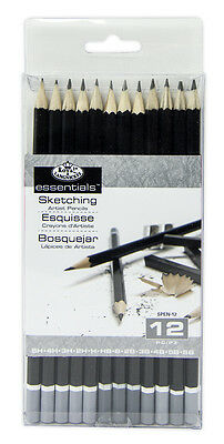 Royal   Langnickel Sketching Pencils Set 12 Pc Draw Sketch Art Supply Drawing