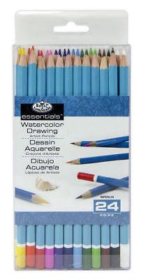 Royal Colour Pencil (24 Royal Langnickel Watercolour Pencils Soluable Artist Colour Drawing WPEN24 )