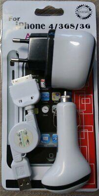 Cargador de Viaje Coche Cable de Datos, Adaptador 3 IN 1 Para...