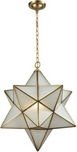 New Elk Lighting Decostar 3 Light Brass Chandelier Pendant 23""